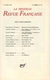 Collectif - La Nouvelle Revue Française N° 195, mars 1969 : Jean Schlumberger.