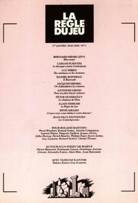 Collectif - La règle du jeu n°01.