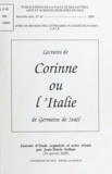 """Collectif - Lectures de """"Corinne ou l'Italie"""" de Germaine de Staël - Journée d'études, 26 janvier 2000, organisée et actes réunis."""