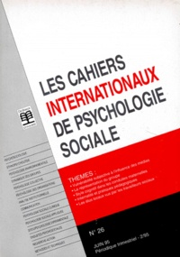 LES CAHIERS INTERNATIONAUX DE PSYCHOLOGIE SOCIALE NUMERO 26 JUIN 1995.pdf