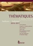 Collectif - Les Codes thématiques Larcier Audience - Judiciaire.