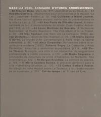 Collectif - Massilia 2005. Annuaire d'études corbuséennes.