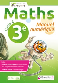Maths 3e Cycle 4 iParcours- Manuel numérique, DVD enseignant site