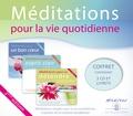 Collectif - Méditations pour la vie quotidienne - Méditations simples pour la vie quotidienne inspirées de la tradition bouddhiste. 3 CD audio
