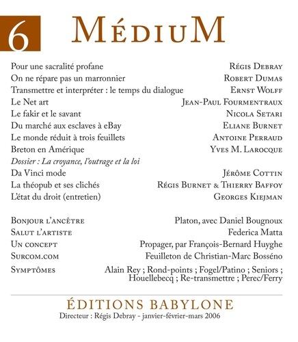 Médium n°6, janvier-mars 2006