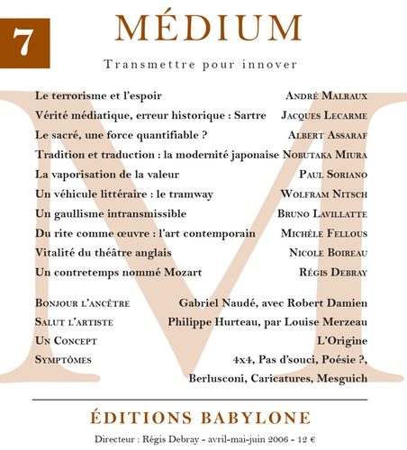 Médium n°7, avril-juin 2006