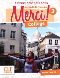 Collectif - Merci collège 3 élève + exercices + Dvd NC.
