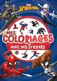 Collectif - Mes coloriages avec stickers Spider-man.