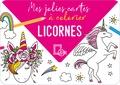 Collectif - Mes jolies cartes à colorier - Licornes.
