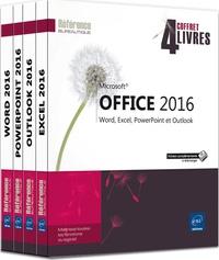 Microsoft Office 2016- Coffret de 4 livres : Word, Excel, PowerPoint et Outlook