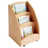 Openwetlab.it Mobinathan - Bacs à livres présentoir 3 compartiments - teinte hêtre Image