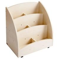 Collectif - Mobinathan - Bacs à livres présentoir 6 compartiments - teinte bouleau.