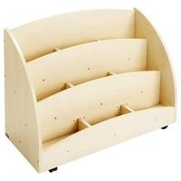 Collectif - Mobinathan - Bacs à livres présentoir 9 compartiments - teinte bouleau.