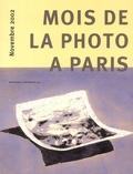 Collectif - Mois de la photo à Paris. - Novembre 2002.