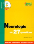 Collectif - NEUROLOGIE EN 27 QUESTIONS.