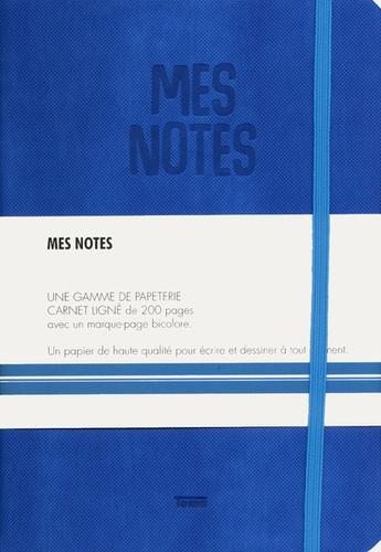 Notes Cuir Bleu Electrique Mes Notes Une Gamme De Papeterie Carnet Ligne De 200 Pages Avec Un Marque Age Bicolore Un Papier De Haute Qualite
