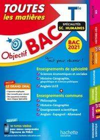 Collectif - Objectif Bac - Term Enseignements communs+ Spécialités Maths-SES-Histoire-Géo-Langues BAC 2021.
