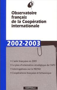 Rhonealpesinfo.fr Observatoire fançais de la Coopération internationale 2002-2003 Image