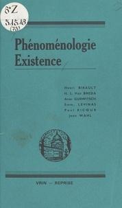 Collectif - Phénoménologie, existence - Recueil d'études.