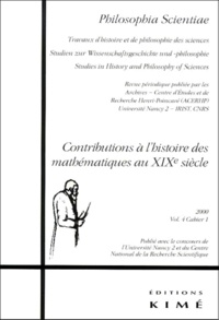 Philosophia Scientae Volume 4 Cahier 1 2000 : Contributions à lhistoire des mathématiques au XIXème siècle.pdf