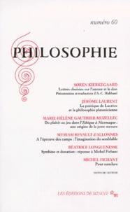 Collectif - PHILOSOPHIE N° 60 1ER DECEMBRE 1998.