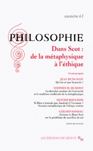 Collectif - PHILOSOPHIE N° 61 MARS 1999 : DUNS SCOT.