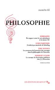 Collectif - Philosophie n° 66 juin 2000.
