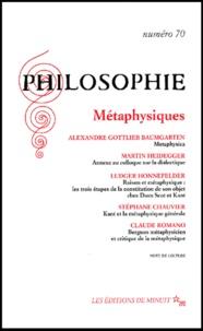 Collectif - Philosophie N° 70  Juin 2001 : Métaphysiques.