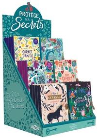 Collectif - Plv pleine de table - mon carnet secret - 24 volumes.