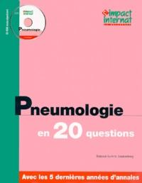 Collectif - PNEUMOLOGIE EN 20 QUESTIONS.