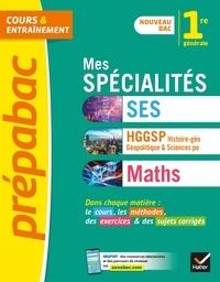 Collectif - Prépabac Mes spécialités Maths, SES, Histoire-géo 1re générale - nouveau programme de Première (2020-2021).