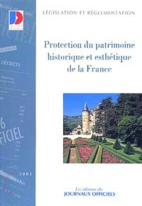 Galabria.be Protection du patrimoine historique et esthétique de la France. - Textes législatifs et réglementaires Image