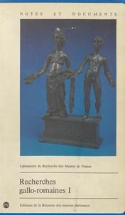 Collectif et  Laboratoire de recherche des m - Recherches gallo-romaines (1).