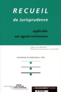 Openwetlab.it RECUEIL DE JURISPRUDENCE APPLICABLE AUX AGENTS TERRITORIAUX. Décisions antérieures à 1995 Image