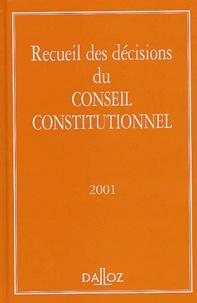 Recueil des décisions du Conseil Constitutionnel. Edition 2001.pdf