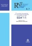 Collectif - Revue des nouvelles technologies de l'information, nº B-7. EDA'11 - VIIe journées francophones sur les entrepôts de données et analyses en ligne.