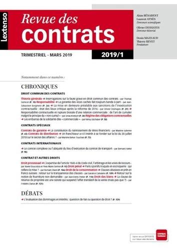 Collectif - Revue droit des contrats - N° 1-2019.
