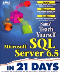 Openwetlab.it SAMS' TEACH YOURSELF MICROSOFT SQL SERVER 6.5 IN 21 DAYS. Edition en anglais Image