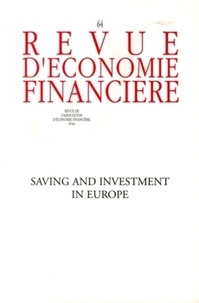 Collectif - Saving and investment in Europe - N° 64.