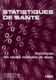 Collectif - Statistiques des causes médicales de décès.