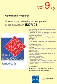 Goodtastepolice.fr Studia informatica universalis, n° 9-2. Operations research - Special issue : selection of best papers of the symposium ISOR 08 Image