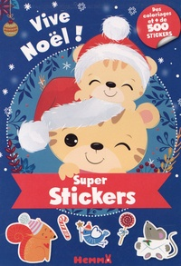 Collectif - Super stickers - Vive Noël !.