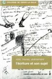 Collectif - Voix, traces, avènement - L'écriture et son sujet, Colloque de Cerisy-la-Salle, 2-5 octobre 1997.