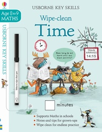 Collectif - Wipe-clean time - Maths Age 8 to 9.