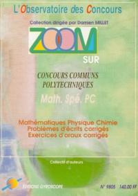 Histoiresdenlire.be ZOOM SUR CONCOURS COMMUNS POLYTECHNIQUES. Concours 1998, Filière PC Image