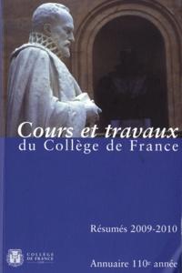 Annuaire du Collège de France 2009-2010- Résumé des cours et travaux -  Collège de France |