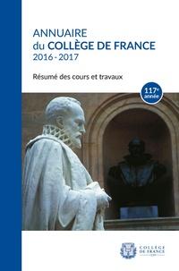Openwetlab.it Annuaire du Collège de France 2016-2017 - Résumé des cours et travaux Image