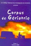 Collège Enseignants Gériatrie et  Collectif - .