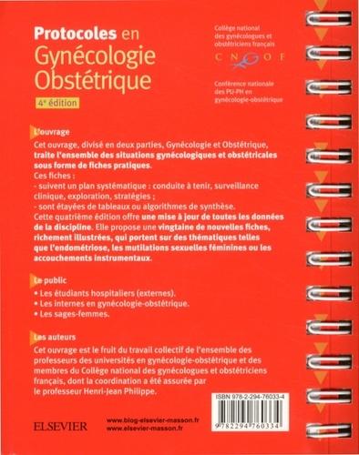 Protocoles en Gynécologie Obstétrique 4e édition