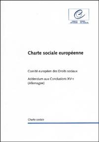 Galabria.be Charte sociale européenne. Addendum aux conclusions XV-1 (Allemagne) Image